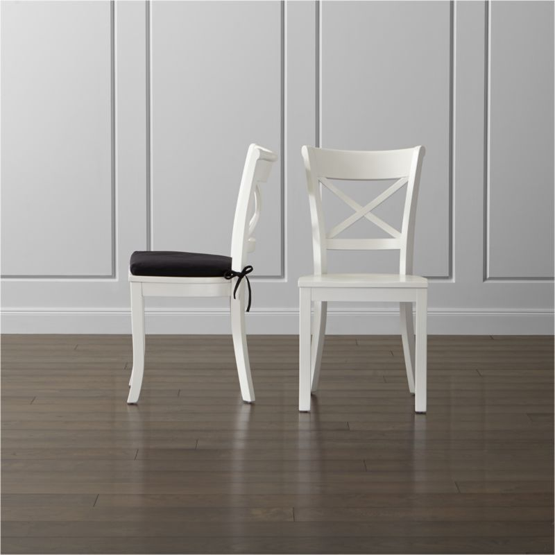 white cushion chair old wooden vintner wood dining and crate barrel vintnerchairswhiteshs15 16x9