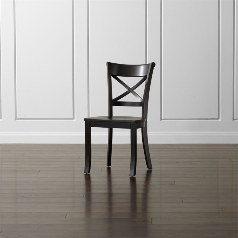 black side chair helinox zero accessories vintner wood dining reviews crate and barrel