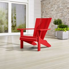 Red Adirondack Chairs Outdoor Garden Chair Covers Vista Ii Sunset Reviews Crate And Barrel