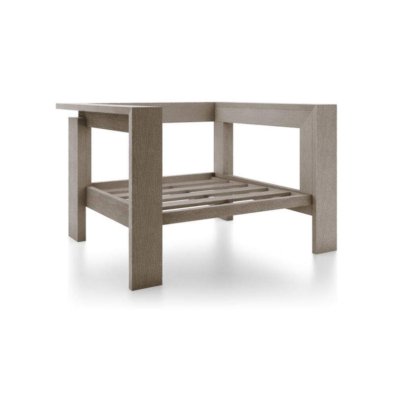 teak lounge chair dining covers for sale walker grey wash reviews crate and barrel