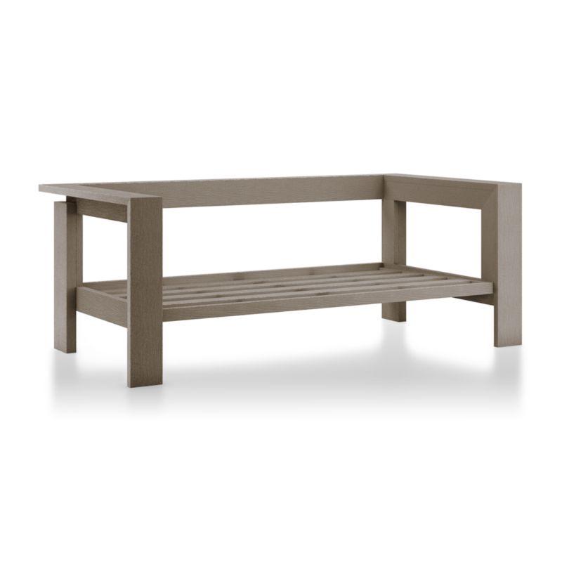 teak sofa table eco friendly uk walker grey wash reviews crate and barrel