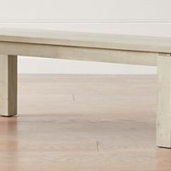 Benches For Kitchen Table Salamander And Dining Crate Barrel Walker Natural 48 Bench