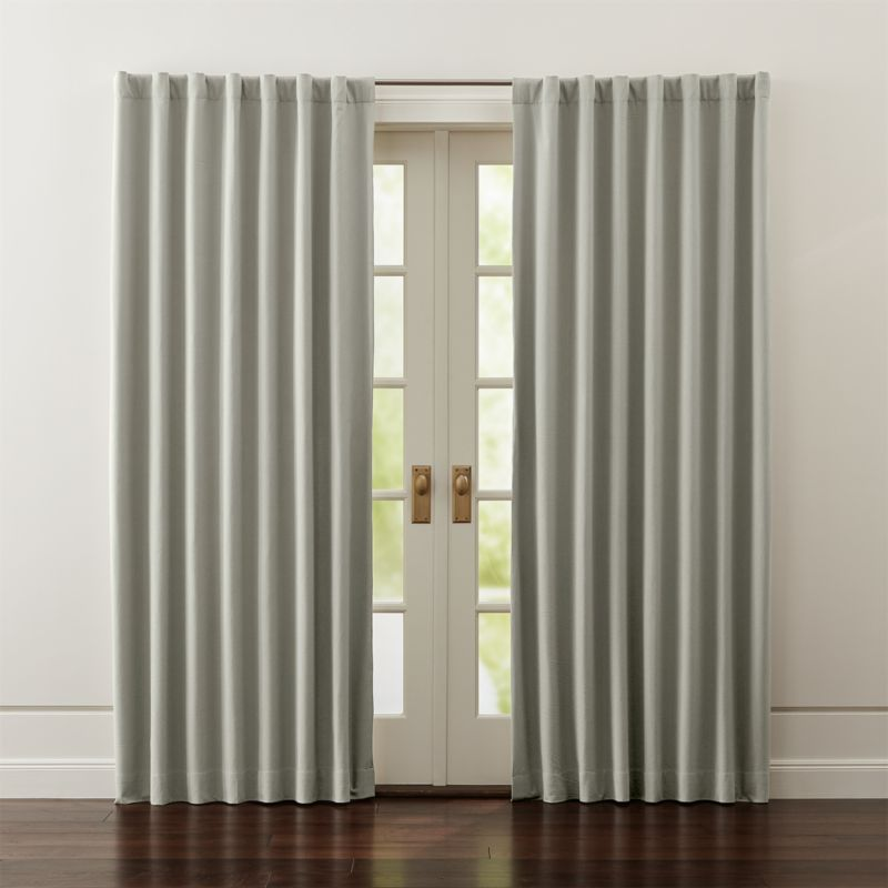 Wallace Grey Blackout Curtains  Crate and Barrel