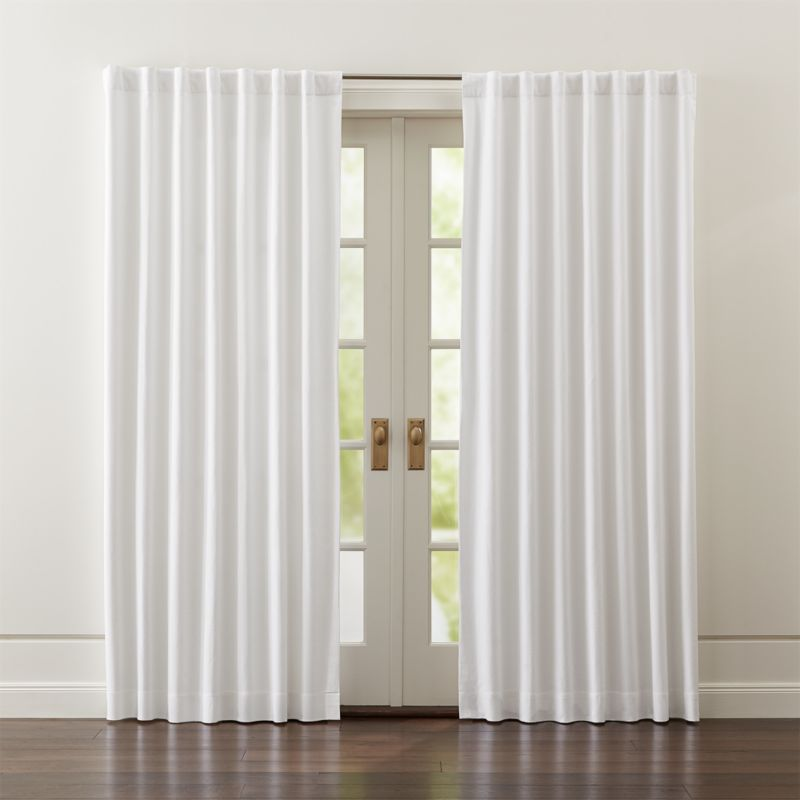 Wallace White Blackout Curtains  Crate and Barrel
