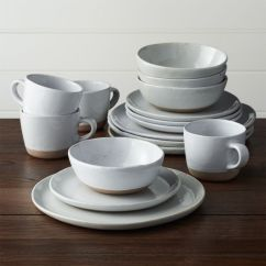 White 6 Chair Dining Table Iron Horse Chairs Welcome 16-piece Dinnerware Set | Crate And Barrel