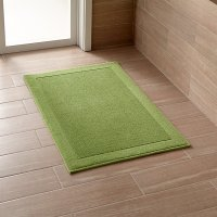 Westport Green Bath Rug | Crate and Barrel
