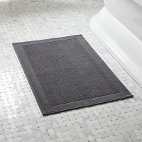 Westport Grey Bath Rug | Crate and Barrel