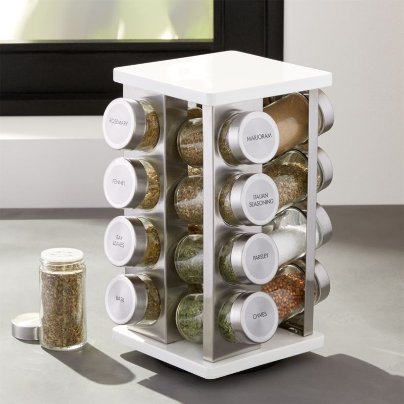 16Bottle White Spice Rack  Reviews  Crate and Barrel