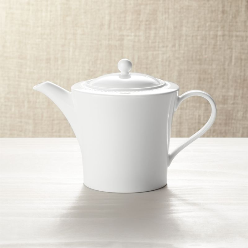 microwave kitchen cart furniture white pearl teapot + reviews | crate and barrel
