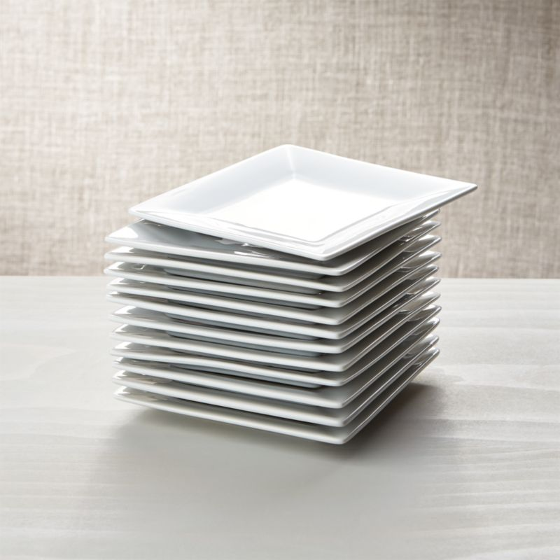 Set of 12 Boxed 6 Appetizer Plates  Crate and Barrel