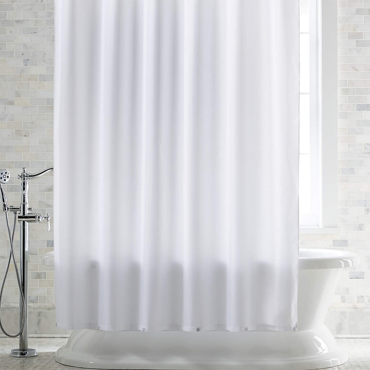 White Shower Curtain Liner With Magnets Reviews Crate And Barrel Canada