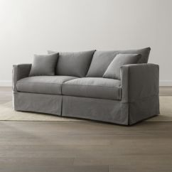 Crate And Barrel Sofa Sleeper Review Right Arm Facing Corner Willow Grey Queen Reviews
