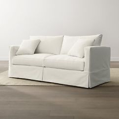 Petite Belgian Track Arm Slipcovered Sofa Value City Couches Sofas Slipcovers Crate And Barrel Slipcover Only For Willow Modern Queen Sleeper