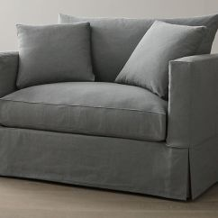 Twin Sleeper Sofa Slipcover Small Round Willow | Crate And Barrel