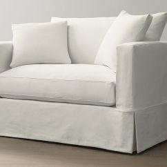 Crate And Barrel Willow Twin Sleeper Sofa Nice Vs Nantes Sofascore White Slipcovered Chair A Half |