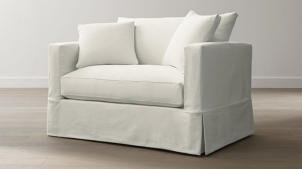 twin sleeper sofa slipcover buchanan willow | crate and barrel
