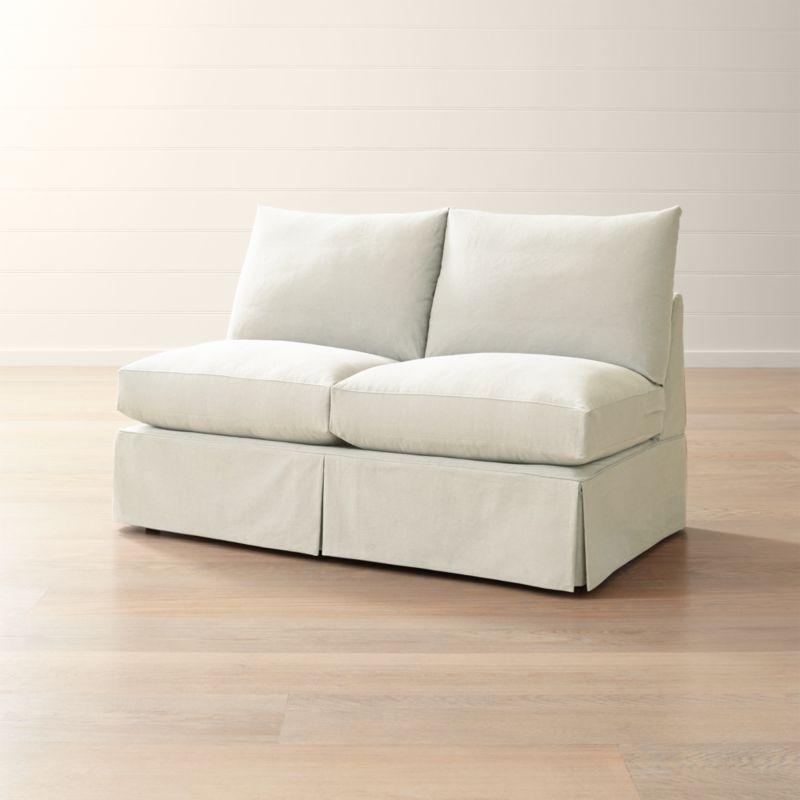 slipcover for armless chair power lift rental only willow modern slipcovered loveseat willowarmlesslvstdsosnwshf17 1x1
