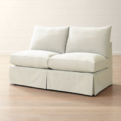 Armless Sofas Best Sleeper Crate And Barrel