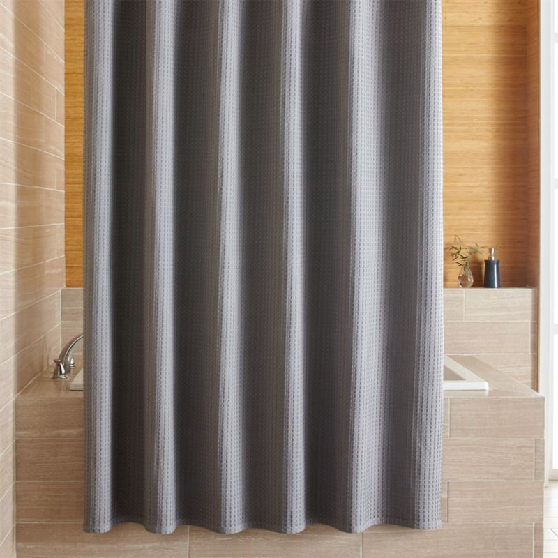 Willow Grey Shower Curtain in Shower Curtains  Rings