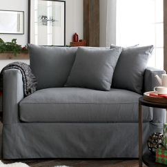 Crate And Barrel Willow Twin Sleeper Sofa Song Tab Grey With Air Mattress | ...