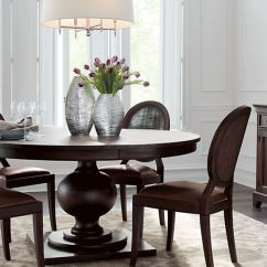 60 Inch Kitchen Table Tuscany Faucet Winnetka Round Dark Mahogany Extendable Dining Reviews Crate And Barrel