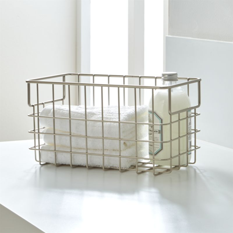 Small Nickel Wire Basket  Reviews  Crate and Barrel