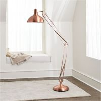 Large Copper Floor Lamp + Reviews | Crate and Barrel