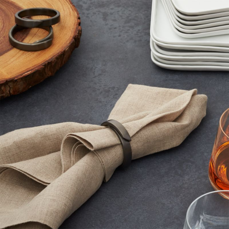 Wrap Black Napkin Ring  Reviews  Crate and Barrel