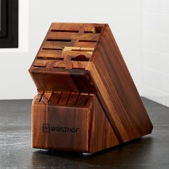 Wusthof Kitchen Shears How To Remodel A Small Wüsthof ® 17-slot Acacia Knife Block | Crate And Barrel