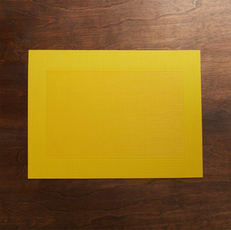 Yellow Easy Care Placemat Reviews Crate And Barrel