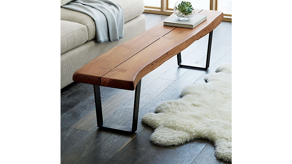 Yukon Large Coffee Tablebench  Crate And Barrel