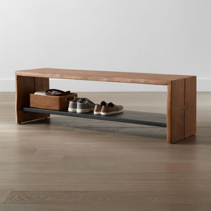 Yukon Entryway Bench with Shelf + Reviews