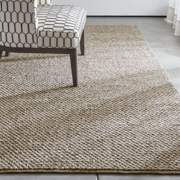 Yvonne Grey Wool-blend Rug Crate And Barrel