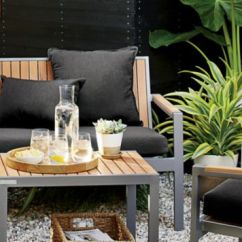Resin Patio Chairs Counter Height With Back Outdoor Furniture By Material | Crate And Barrel