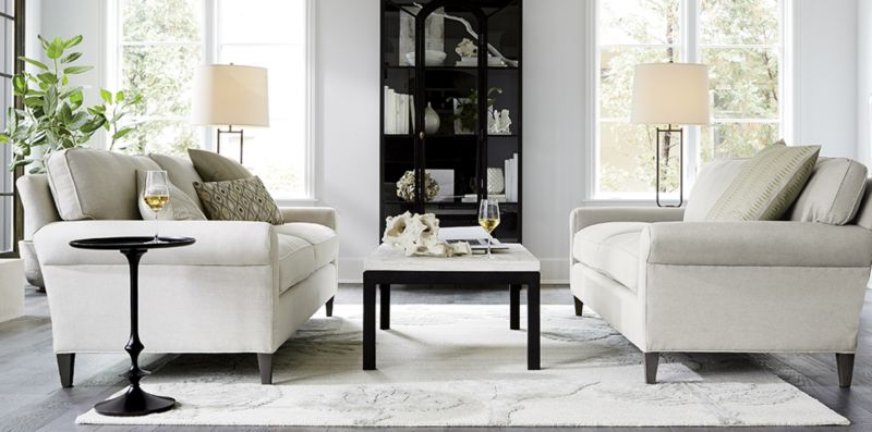 Classic Neutral Living Room Montclair  Crate and Barrel