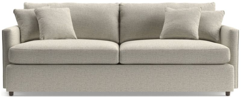 loose pillow back sofa replacement pillows bed red lounge ii 93 reviews crate and barrel tap to zoom shown in taft cement
