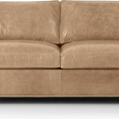 Leather Sleeper Sofa With Nailheads Loveseat Bed Vancouver Bc Dryden Full Reviews Crate Tap To Zoom Shown In Libby Mushroom