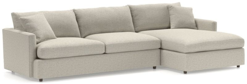 https www crateandbarrel com lounge ii petite 2 piece sectional sofa s590880
