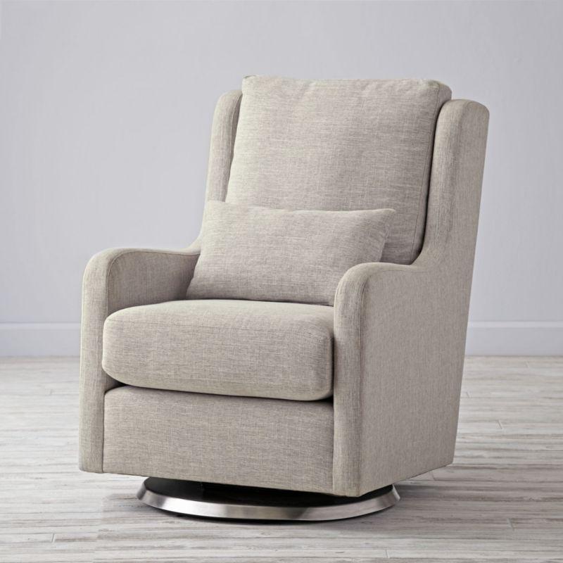 nursing glider or rocking chair hanging gauteng milo grey reviews crate and barrel