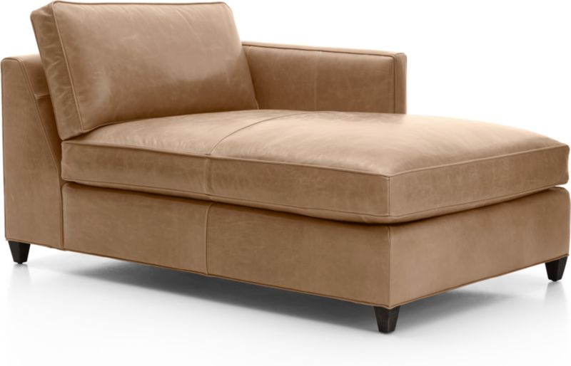 Dryden Leather Right Arm Chaise Lounge + Reviews