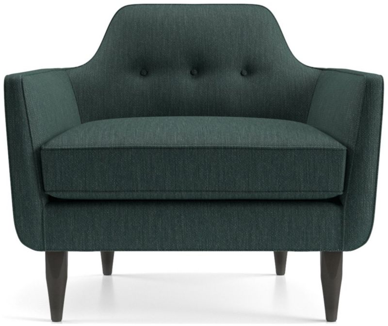 teal club chair small swivel gia button tufted reviews crate and barrel