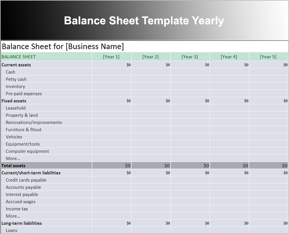 Sds sheets were formerly called msds, or material safety data sheets until the 2012 osha hazard communication stand. 10 Balance Sheet Template Free Word Excel Pdf Formats