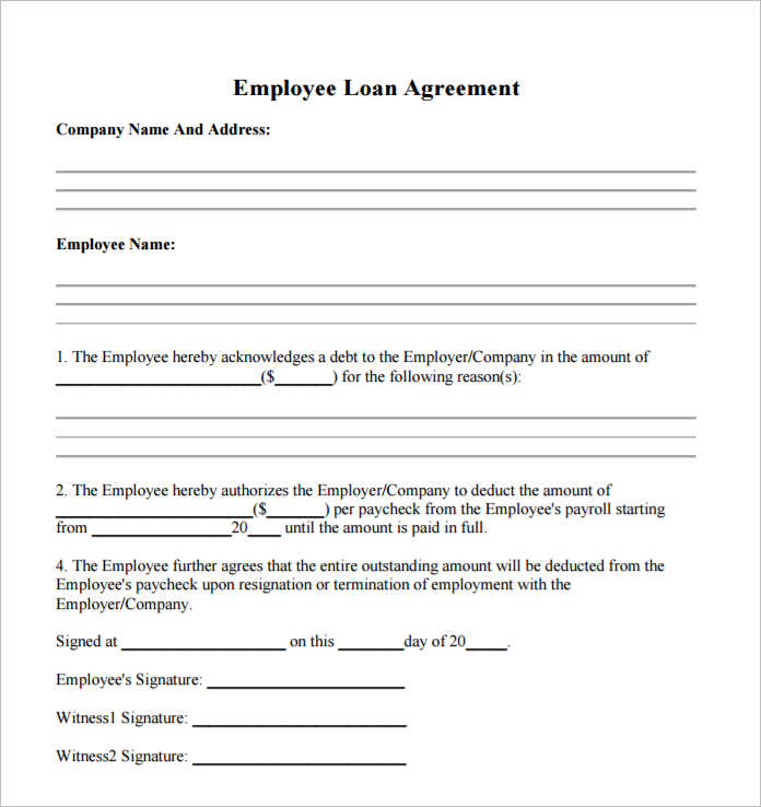 Download employee loan agreement for free. 21 Loan Agreement Template Free Word Excel Pdf Formats