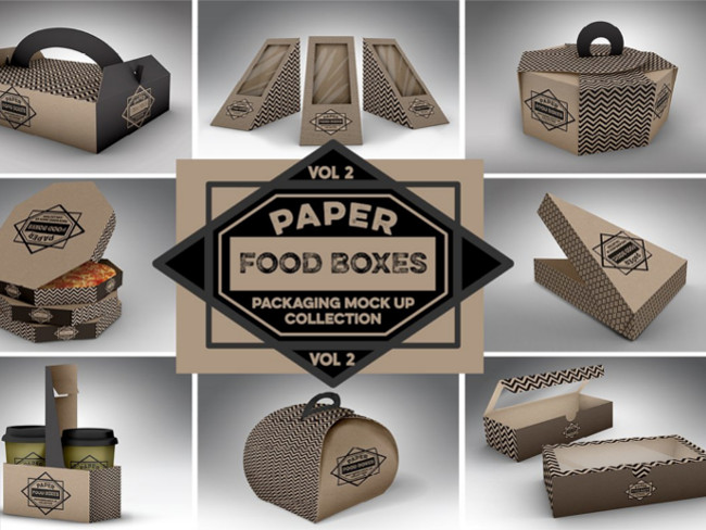 Download 102+ Realistic Food Box Mockups Free PSD Templates