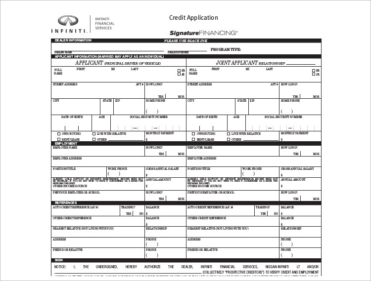Applicant's credit reports, to third parties with which company name shares credit information. Ford Business Credit Application Pdf