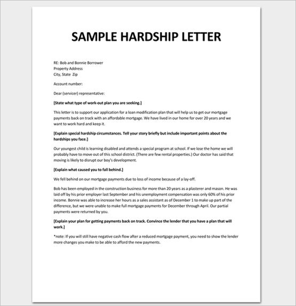 Hardship Letter Templates Free Pdf Examples