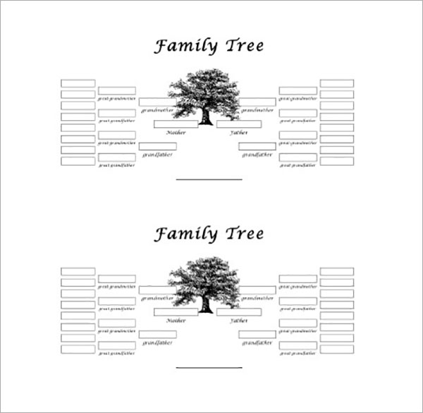 13+ 5 Generation Family Tree Templates Free Word, Excel