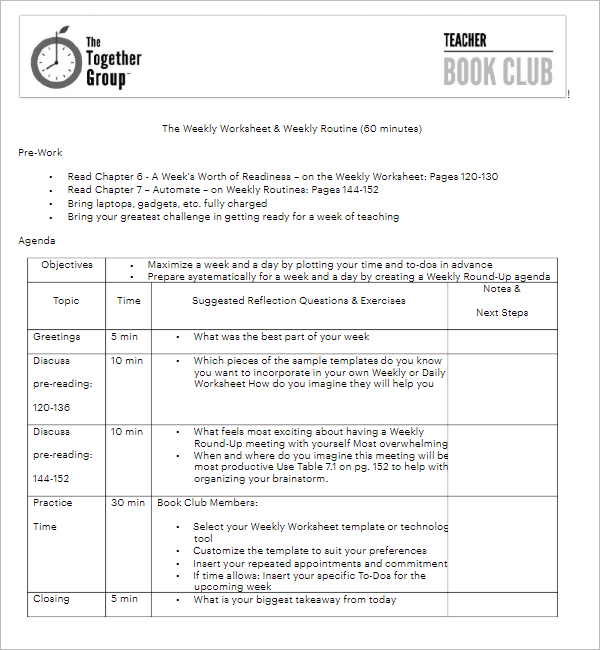 Minutes are a detailed record of a meeting. 21 Club Meeting Minutes Templates Pdf Sample Formats