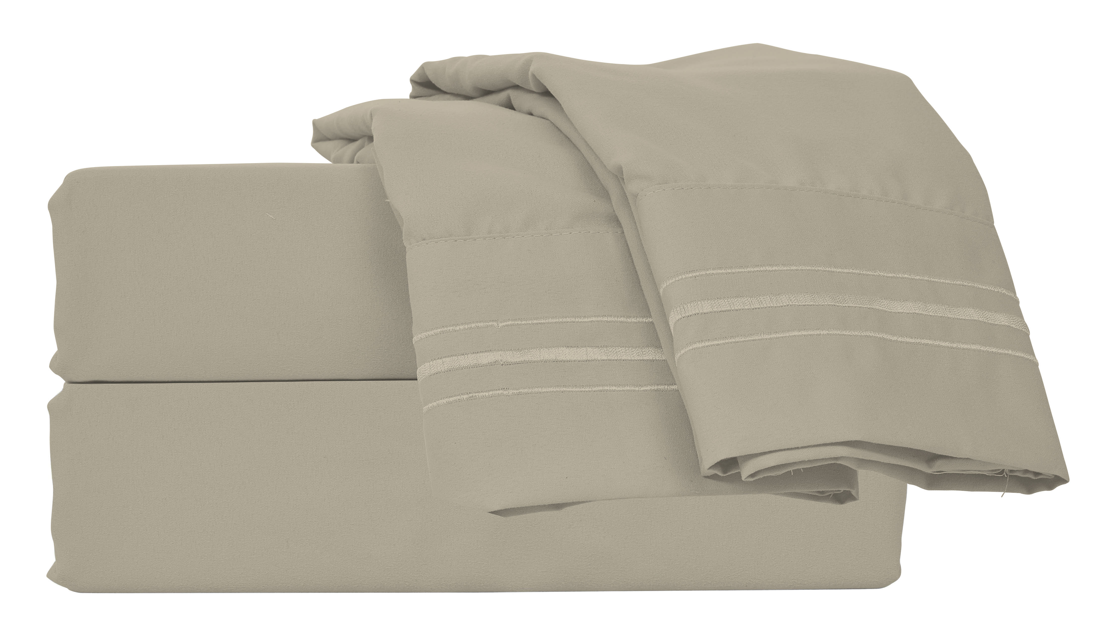 Bed Sheet Set Microfiber Easy Clean Soft Brush Twin Full