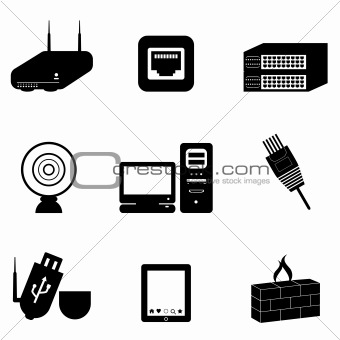 Image 4149006: Computer and network devices from Crestock